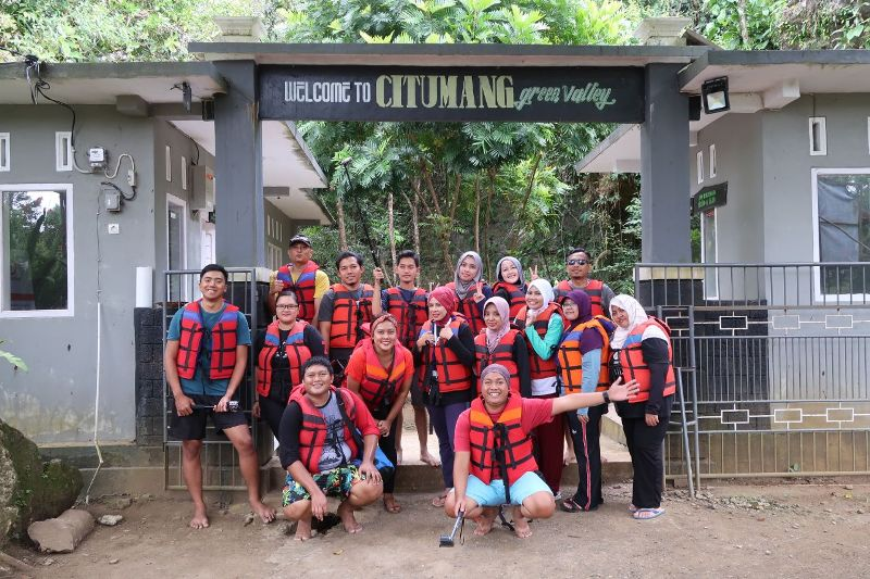 Serunya Body Rafting di Citumang Green Valley, Pangandaran