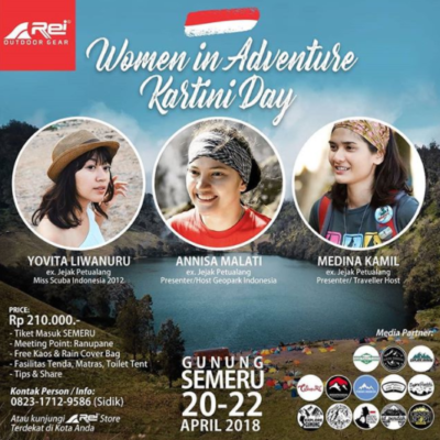 Persiapan Pendakian Gunung Semeru: Woman in Adventure Kartini Day 2018
