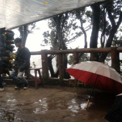 Menyibak Kabut Pekat di Gunung Tangkuban Perahu Bandung